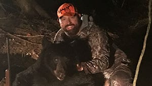 Francis Darr with his black bear harvest